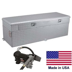 91 Gallon Auxiliary Tank Toolbox 55 X 30 X 19 12v Dc Pump For 8 Ft Bed