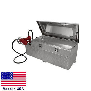 90 Gallon Transfer Tank Toolbox 55 X 30 X 19 12v Pump For 8 Ft Beds