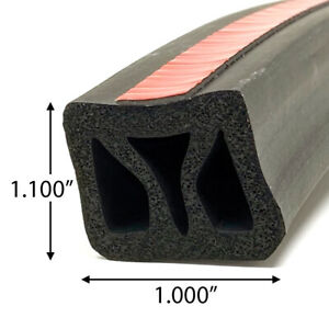 Front Rail Seal Xl 5 1 2ft Epdm Rubber For Truck Cap Camper Shell 1 w X 1 1 h