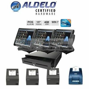 New Bematech Aldelo Pro Restaurant Pizza Bar 3 Station Restaurant Pos I3 4gb Ram