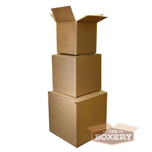 100 4x4x4 Shipping Packing Mailing Moving Boxes Corrugated Carton