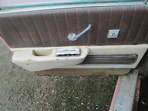 1958 Lincoln Premiere Left Driver Rear Door Pad Oem 58