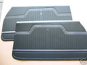 1970 1972 Chevelle Door Panels Assembled With Metal Top Plate And Windowfelt