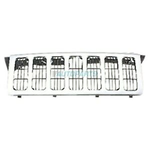 New Front Grille Chrome Fits 2006 2010 Jeep Commander Ch1200303