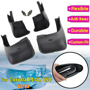 4pcs Set For Toyota Corolla Altis 2007 2013 Mud Flaps Splash Guards Mudguards