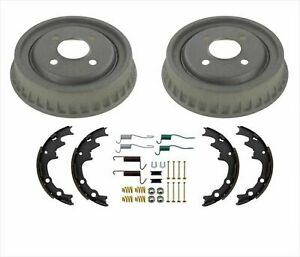 New Rear Brake Drums Brake Shoes Springs Hardware For Ford Mustang 1985 1993
