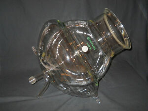 Chemglass 22l Jacketed Spherical Reaction Vessel W Drain O ring Groove