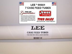 90661 * LEE PRO 1000 LOAD-MASTER PROGRESSIVE PRESS CASE FEEDER TUBES * 7 TUBES