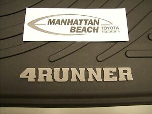 2003 2009 4runner All Weather Rubber Floor Mats 4pc Set Genuine Toyota Accessory