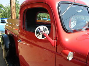 Side Mirror Dodge Plymouth Studebaker Truck Chrome Smooth 5 Inch Head