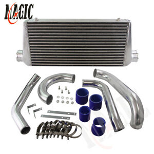 Fmic Twin Turbo Intercooler Kit Fits Toyota Supra Jza80 2jzgte 2jz 93 98 Blue