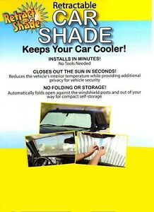 Retractable Auto Sun Shade Car Truck Suv Beat The Heat