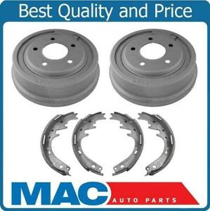 New Rear Brake Drums Shoes 100 All New 3pc Kit For Ford F150 Bronco 87 96