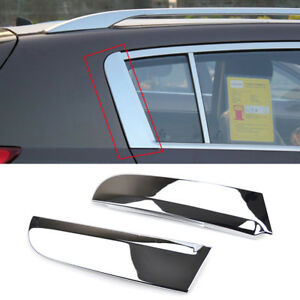 Fit For 2011 2016 Kia Sportage C Pillar Chrome Trunk Window Cover Trim Molding