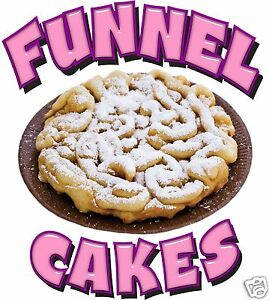 Funnel Cakes Decal 14 Powdered Sugar Concession Food Truck Vinyl Sticker