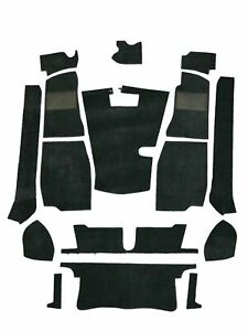 Mg Mgb Roadster 1968 1980 4 Synchro Complete Replacement Black Carpet Set