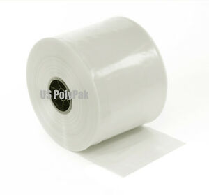 500 Ft 4 x 3 mil Clear Poly Tubing Fda Ldpe Layflat Roll Case Ml In Inch 003