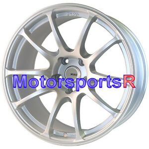 Miro 563 18x9 5 20 Silver Rims Wheels 5x114 3 15 Mitsubishi Evolution X Mr Fe