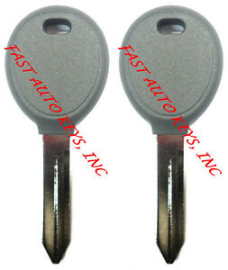 Pair New Uncut 1998 2006 Dodge Transponder Chip Key Same Day Shipping