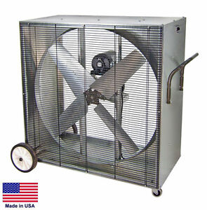 Box Fan Industrial Belt Driven 48 115 Volt 1 5 Hp 1 Phase 21 500 Cfm