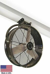 30 Industrial Ceiling Mounted Fan 1 4 Hp 8 200 Cfm 115v 850 Rpm 3 8a