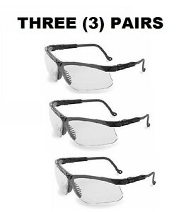 3 Three Pairs Uvex By Honeywell S3200x Safety Glasses Anti fog Clear Lens