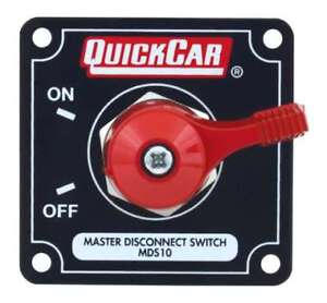 Quickcar 55 011 Battery alternator Disconnect Switch 125 Amp With Black Panel