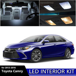 13pcs White Interior Led Light Package Kit For 2012 2016 Toyota Camry
