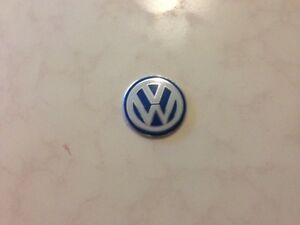Volkswagen Vw Key Fob Remote Metallic Badge Logo Sticker 14mm Self Adhesive