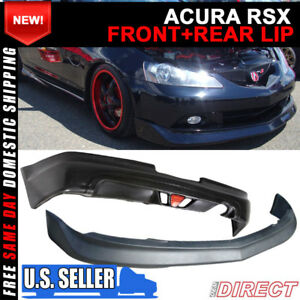 For 05 06 Acura Rsx 2dr Mugen Style Front And Rear Lip Combo W Led Brake Light