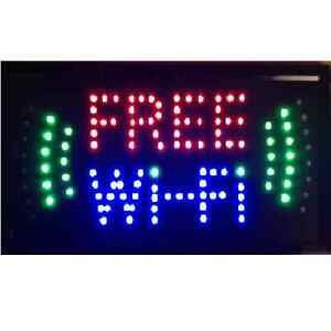 10 19 Animated Motion Led Business Wifi Sign Onoff Switch Bright Open Light Neon