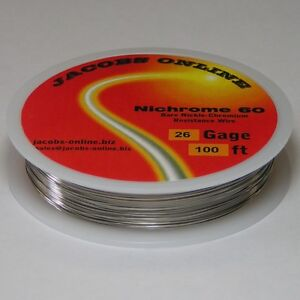 Nichrome 60 Resistance Wire 26 Awg gauge 100 Feet