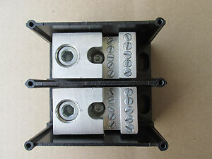 Gould 66652 Power Terminal Block 2 Pole 1 350 Mcm 6 X 10 6 14 New