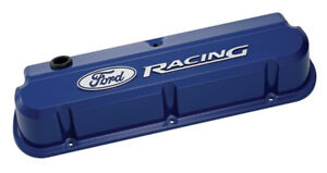 Proform 302 136 Blue Slant Edge Valve Covers Sbf Tall Cast Aluminum