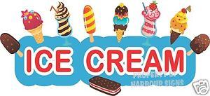 Ice Cream Decal 36 Cart Stand Concession Food Truck Restaurant Vinyl Sign