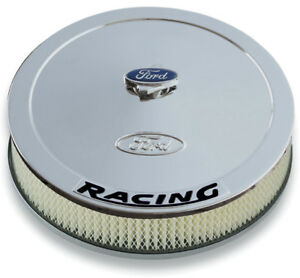 Proform 302 351 Ford Racing Chrome Air Cleaner Kit 13 Diameter 2 63 Filter