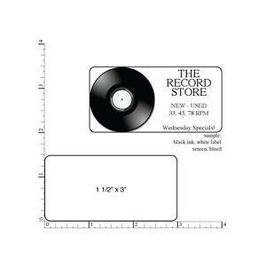 250 Printed Labels 1 1 2 X 3 Custom Rectangle Business Stickers 1 color Ink