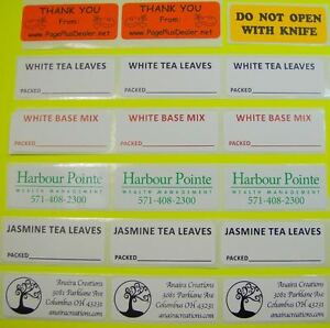 Printed Stickers Labels 250 Custom 1 X 2 5 Business Rectangle 1 color On Roll
