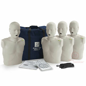 4 pack Prestan Adult Cpr Manikins W Monitors Light Tone Pp am 400m Mannequins