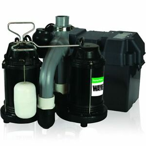 Wayne Wss30vn 1 2 Hp Combination Primary And Backup Sump Pump System
