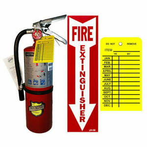 new 2019 5 Lb Type Abc Dry Chemical Fire Extinguisher With Vehicle Bracket