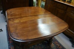 Antique French Walnut Extension Dining Table Desk