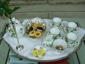 Classic Silver Tea Tray Open Entree Bread Serving Dish Exfancy Chippendale Rim