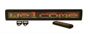 New Tricolor Led Programmable Scrolling Message Display Sign Wireless Remote