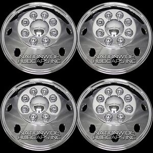 16 5 Chrome Rv Motorhome Dual Wheel Simulators Rim Hub Covers Hubcaps Van Truck