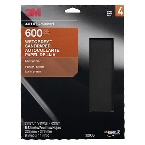 3m Sandpaper Wet Or Dry Sheets P600 Grit 9 X 11 Inch 32036