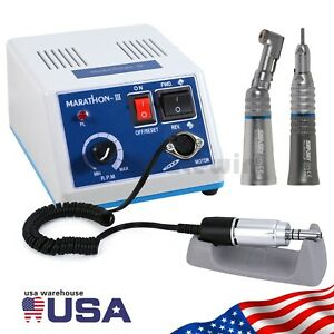New Dental Lab 35k Rpm Marathon Micro Motor Straight Handpiece Contra Angle