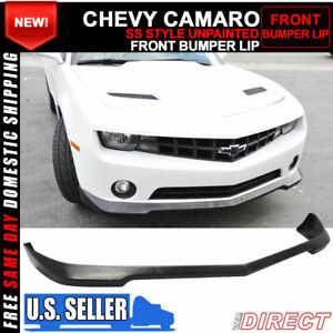 For 10 13 Chevrolet Camaro V6 Ss Style Front Bumper Lip Unpainted Pu Urethane