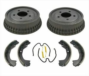 Malibu Cutlass Grand Am Rear Brake Drums Shoes Kit