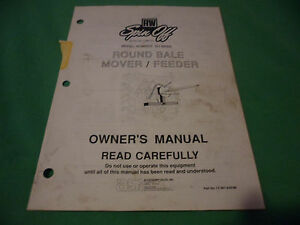 drawer 16 Rw Spin Off So 88000 Round Bale Mover Feeder Owners Manual